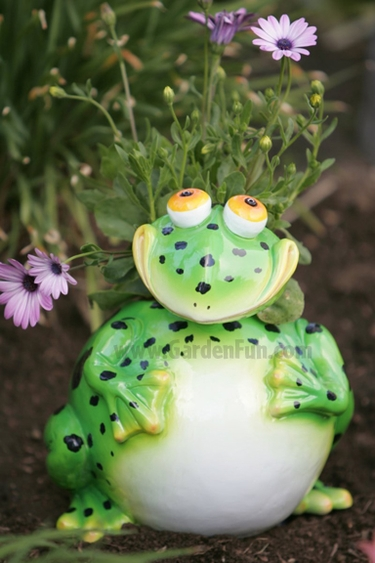 Large Frog Phatzo Planter - Click to enlarge