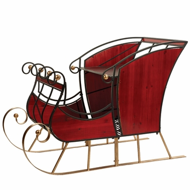 Large Glossy Red Sleigh - Click to enlarge