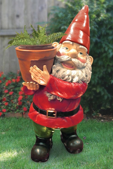 Gnome In Garden: Large Gnome Planter Only $69.95 At Garden Fun