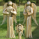 "67"" Large Golden Angels (Set of 3)"