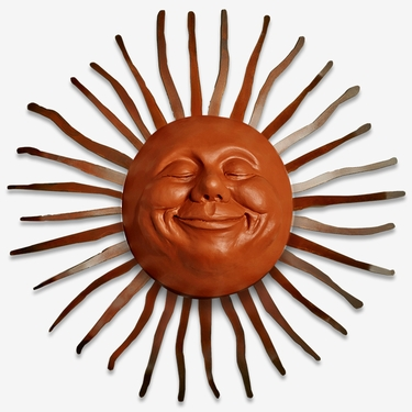 Large Grin Sun Decor w/Bent Rays - Click to enlarge