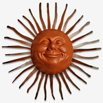Large Grin Sun Decor w/Bent Rays