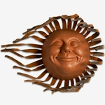 Large Grin Sun Decor w/Wind Blown Rays
