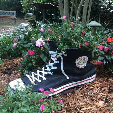 Large High Top Sneaker Planter - Black - Click to enlarge