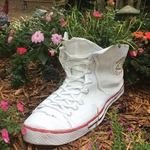 Large High Top Sneaker Planter - White