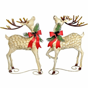 Large Iron Christmas Reindeer (Set of 2) - Click to enlarge