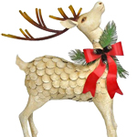 Large Iron Christmas Reindeer (Set of 2)
