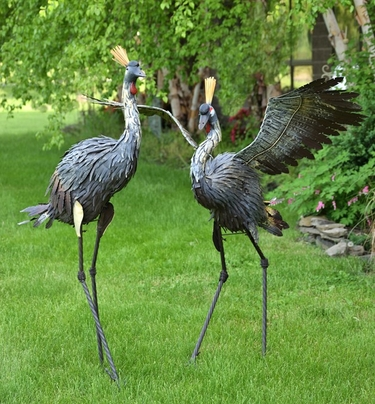 Large Iron Dancing Large Herons (Set of 2) - Click to enlarge