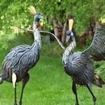 Large Iron Dancing Large Herons (Set of 2)