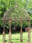 "Large Iron Garden Gazebo ""Valiko"" - Antique Bronze"