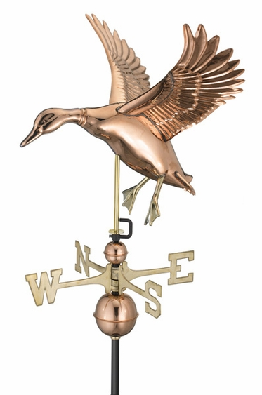 Large Landing Duck Weathervane - Click to enlarge