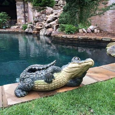 Large Lying Gator Statue - Click to enlarge