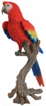 "Large Macaw Statue - Scarlet ""Ultra-Realistic"""