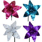 Large Metal Lilies (Set of 4)