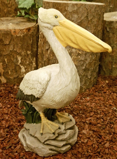 Large Pelican Statue - Painted - Click to enlarge