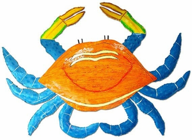 Large Pink & Blue Crab - Click to enlarge