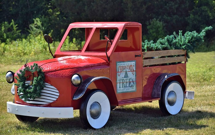 large red christmas truck only 449900 at garden fun