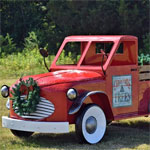 Large Red Christmas Truck