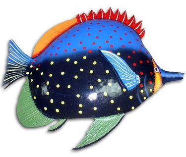 Large Red Fin Fish Wall Art - Click to enlarge