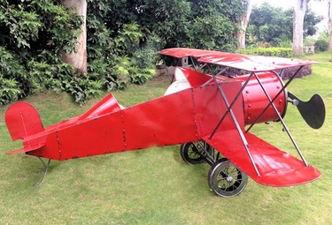 Large Red Plane Decor - Click to enlarge