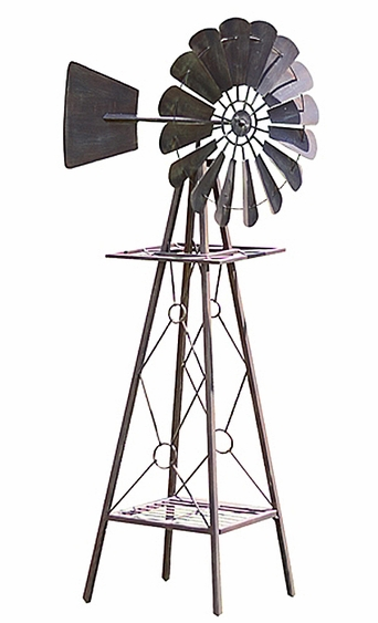 9 Foot Large Rustic Windmill - Click to enlarge