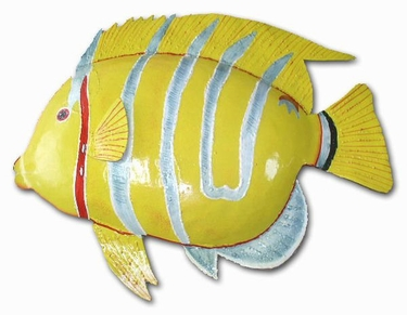 Large Silver Stripe Fish Wall Art - Click to enlarge