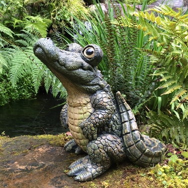 Large Standing Gator Statue - Click to enlarge