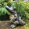 Large Standing Gator Statue