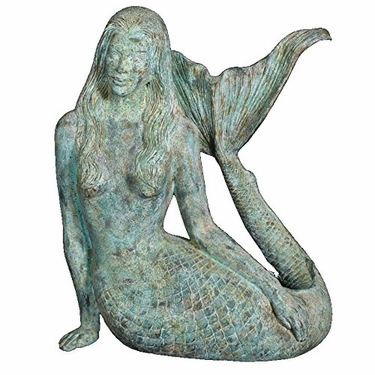 Large Sultry Mermaid Statue - Shipwreck Finish - Click to enlarge