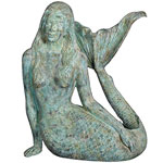 Large Sultry Mermaid Statue - Shipwreck Finish