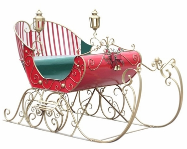 Large Victorian Christmas Sleigh