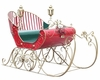"Large Victorian Christmas Sleigh ""LUCIANA"""