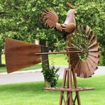 Large Windmill w/Rooster Bird
