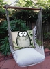 Latte Chubby Owl Hammock Chair Swing Set