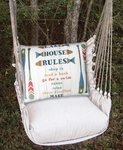Latte Lake House Rules Hammock Chair Swing Set