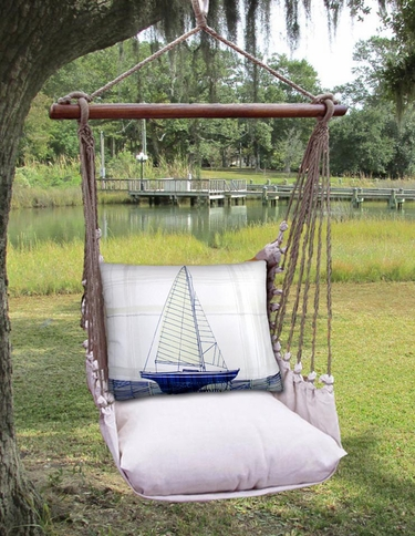 Latte Model Sailboat Hammock Chair Swing Set - Click to enlarge