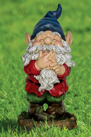 Funny Garden Gnomes: Laughing Gnome Statuary