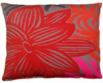 Lava Flower Outdoor Pillow