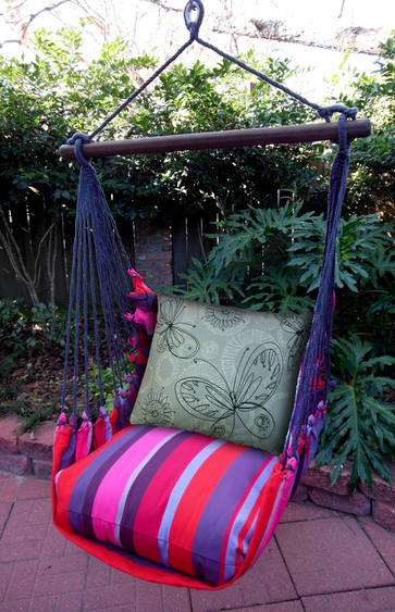 Lava Stripe Butterfly Circles Hammock Chair Swing Set - Click to enlarge