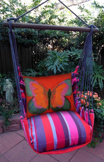 Lava Stripe Butterfly Hammock Chair Swing Set - Click to enlarge