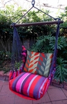 Lava Stripe Leaves Hammock Chair Swing Set