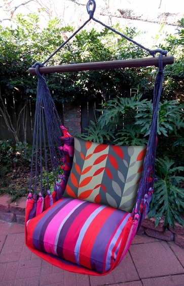 Lava Stripe Leaves Hammock Chair Swing Set - Click to enlarge