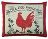 Le Coq Rouge Outdoor Pillow