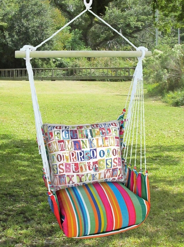 Le Jardin Alphabet Hammock Chair Swing Set - Click to enlarge