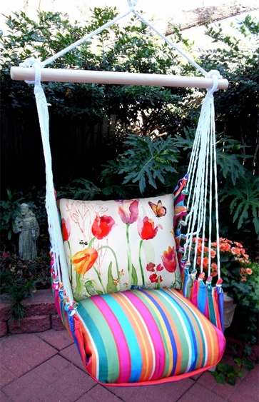 Le Jardin Aviary Butterfly Hammock Chair Swing Set - Click to enlarge