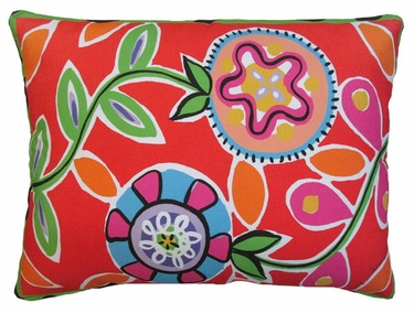 Le Jardin Flower Outdoor Pillow - Click to enlarge