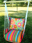 Le Jardin Flowers All Over Hammock Chair Swing Set