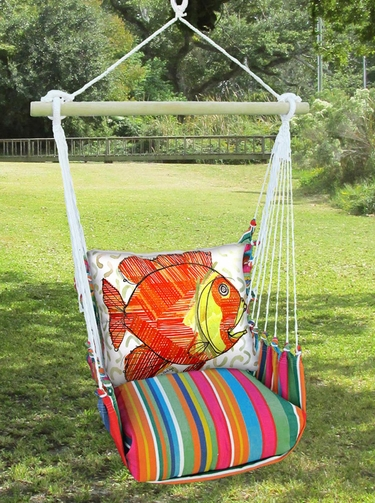 Le Jardin Modern Fish Hammock Chair Swing Set - Click to enlarge