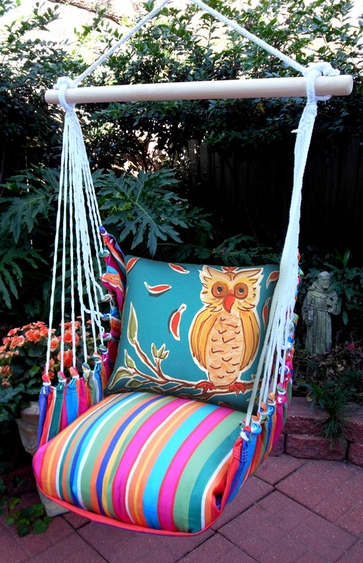 Le Jardin Owl Hammock Chair Swing Set - Click to enlarge
