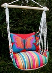 Le Jardin Red Butterfly Hammock Chair Swing Set